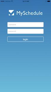 Myschedule.com Mobile - náhled