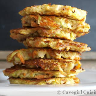 Chayote and Carrot Patties.