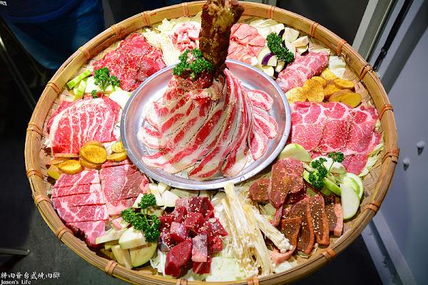 新開幕,超霸氣肉金剛無敵制霸肉山,等你來挑戰,一盤300元海鮮任你夾,還可DIY雞蛋糕。胖肉爺台式燒肉攤