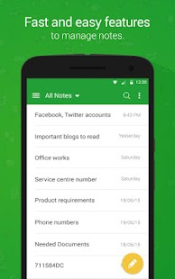 Secure Notes - Note pad screenshot