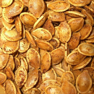 Spiced Toasted Pumpkin Seeds.