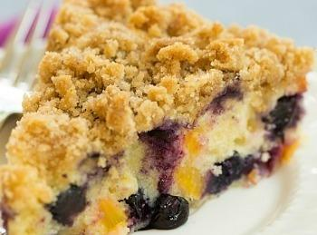 Blueberry Peach Coffeecake Recipe