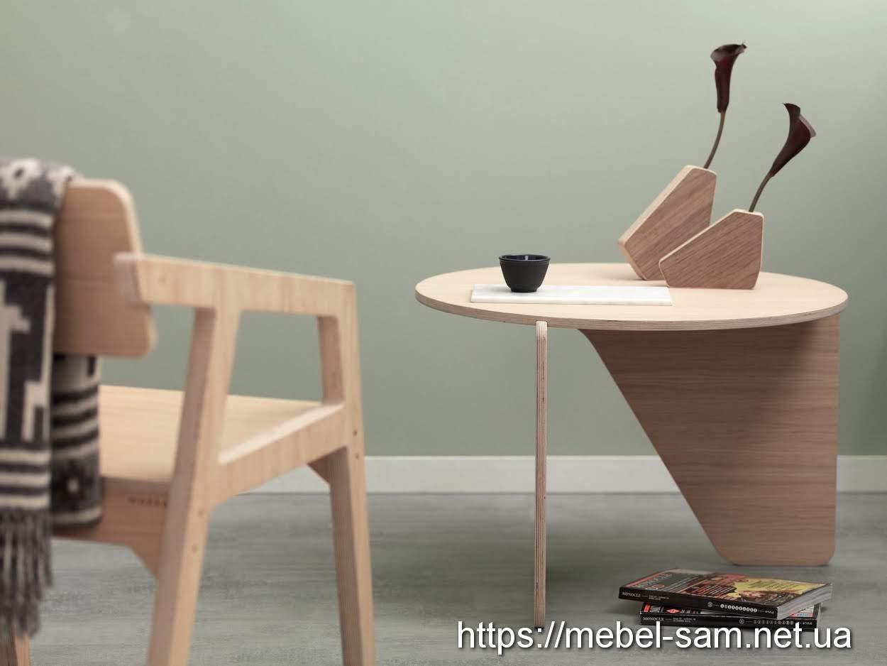 стол, столик и декор - из фанеры