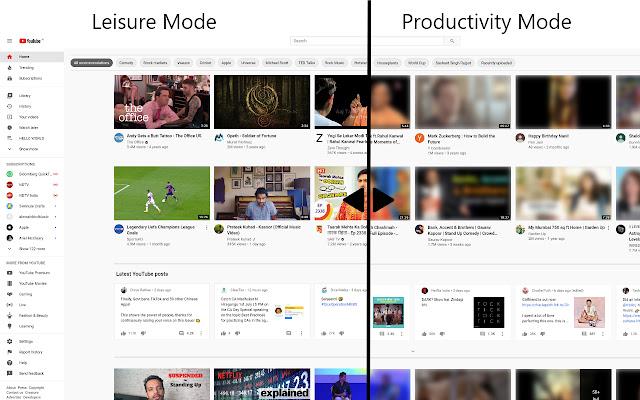 YouTube™ Productivity Mode