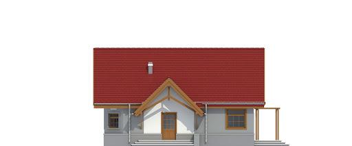 Lolek II z garażem 1-st. bliźniak A-BL1 - Elewacja prawa