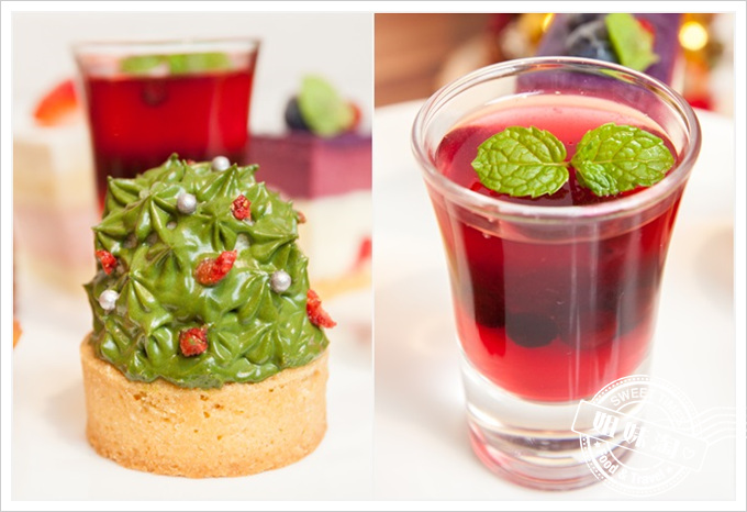 Chic Pastry奇可烘焙菜單聖誕抹茶塔莓果凍