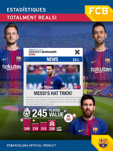 FC Barcelona Fantasy Manager: Real football mobile