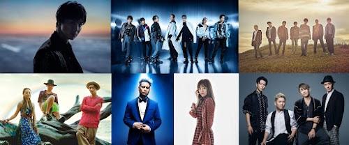 Imagem promocional dos artistas que cantam os temas musicais dos filmes do projeto.