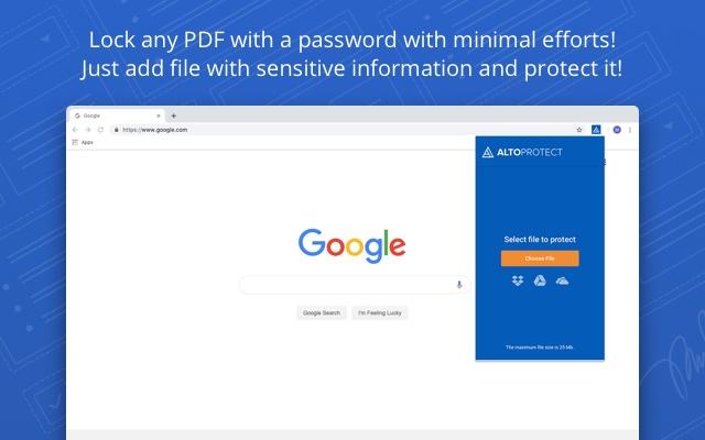 Alto Protect PDF Files by PDFfiller