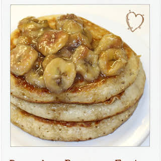 Buttermilk Bananas Foster Pancakes.