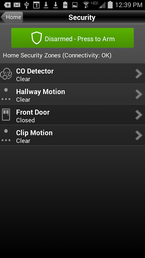 BHN Home Security and Control- screenshot