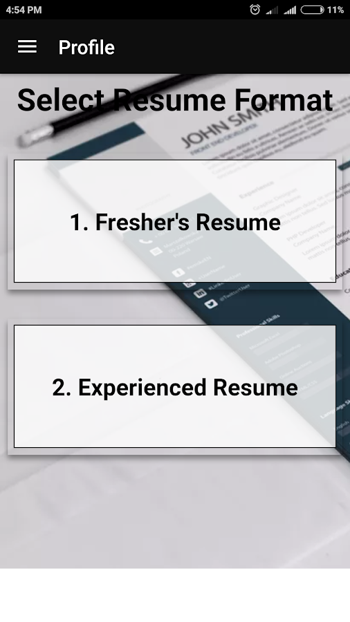 free resume builder pdf formats cv maker templates android apps