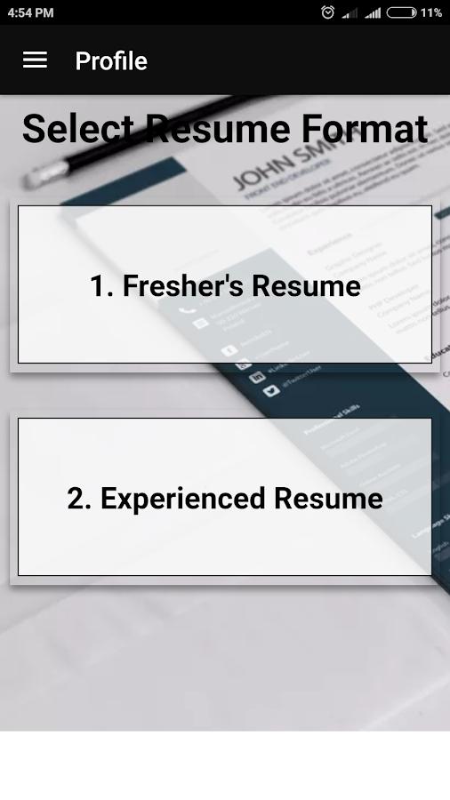 free resume builder pdf formats cv maker templates