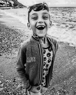 Felicità nel viso di un bambino