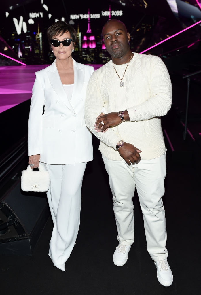 Kris Jenner and Corey Gamble attend the 2018 Victoria's Secret Fashion Show on November 8 in New York City.