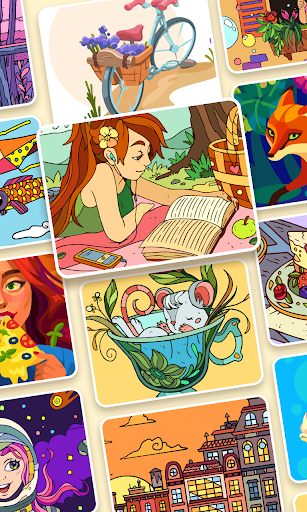 Color Stories: coloring casino & paint art gallery  screenshots 3