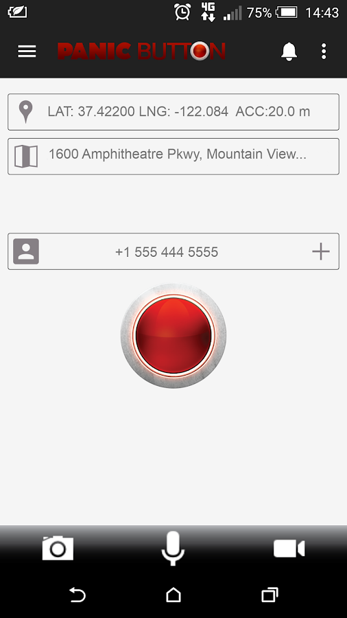 Red Panic Button- screenshot