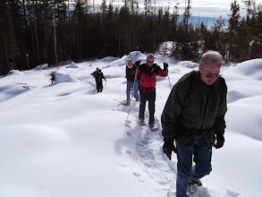 Photo: Feb 2014 snowshoe on Mom' - Stigs connector. clear cut in winter Near the end of a long climb.