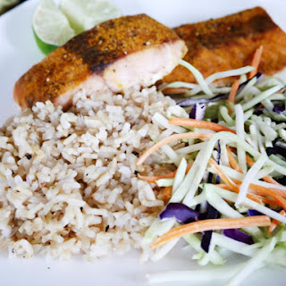 Easy Curry Salmon With Brown Rice.
