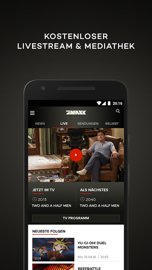 prosieben maxx tv mediathek android apps on google play. Black Bedroom Furniture Sets. Home Design Ideas