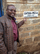 Photo: Chariman Francis Wanjala next to Sifa school - accepting Gatina-Pesa for school fees