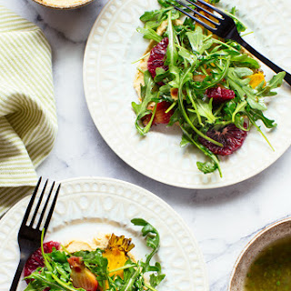 Arugula Salad with Hummus, Oranges and Roasted Beets Recipe