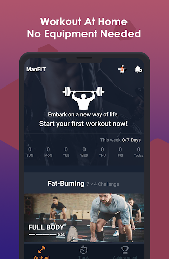 ManFIT – Muscle building Exercise, Home Workout screenshot 1