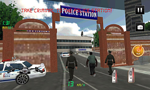 Police Motorbike : Crime City