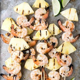 Grilled Thai Shrimp-Pineapple Skewers