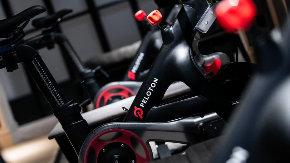 Peloton Interactive Inc. stationary bicycles
