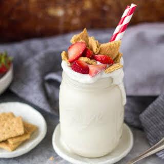 Strawberry Cheesecake Protein Smoothie.