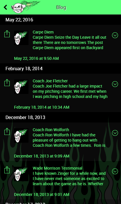 Coach Zinger App- screenshot