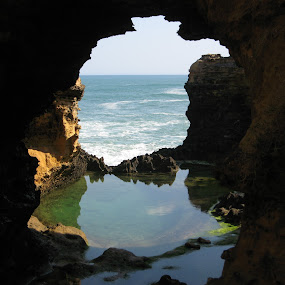 The Grotto by Israel  Padolina - Novices Only Landscapes ( water, natural frame, grotto, beach )
