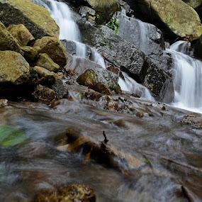 Small water Falls by Sankar GM - Landscapes Waterscapes ( waterfowl, waterscape, water splash )
