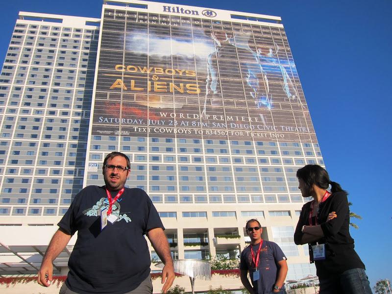 Photo: Love this hero shot of the Slashfilm crew from Comic-Con