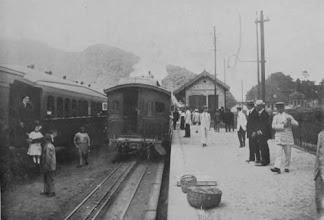 Photo: Estação do Alto da Serra. Hoje em seu lugar existe um conjunto habitacional do tipo BNH. Foto do final do século XIX