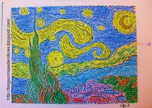 "Photo: Van Gogh ""La Noche estrellada"" 4ºB"
