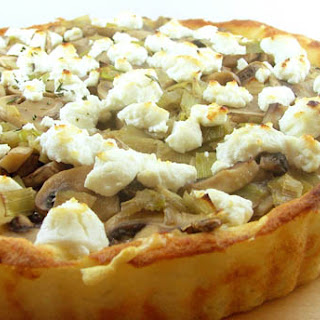 Mushroom Tart with a Mashed Potato Crust.