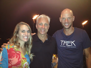Photo: Great evening with good friends Alicia and Dirk Bockel.  Dirk is an Olympian and Ironman Champ....one of the favorites!