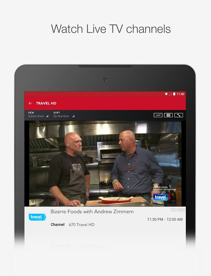 FrontierTV - for FiOS and Vantage TV subscribers- screenshot