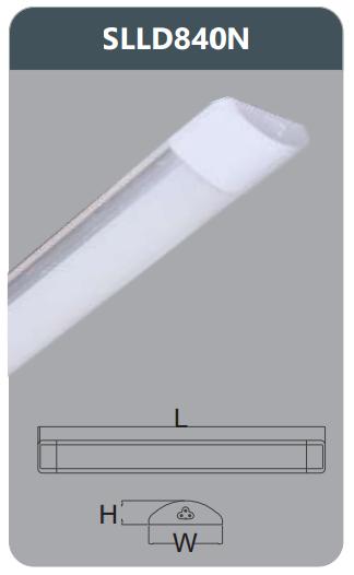 Đèn ốp trần Duhal SLLD840N chụp mica 40W 4200Lm