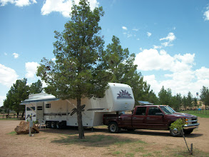 Photo: Still connected to truck with full hook-ups - staying only one night