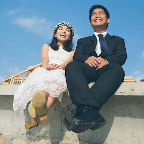 Happy Ending ;) by Minh Thiên - Wedding Bride & Groom ( happy, wedding, smile )