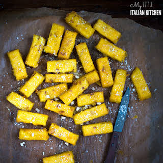 Baked Polenta Chips With Parmesan…crunchy Outside And Soft Inside!.