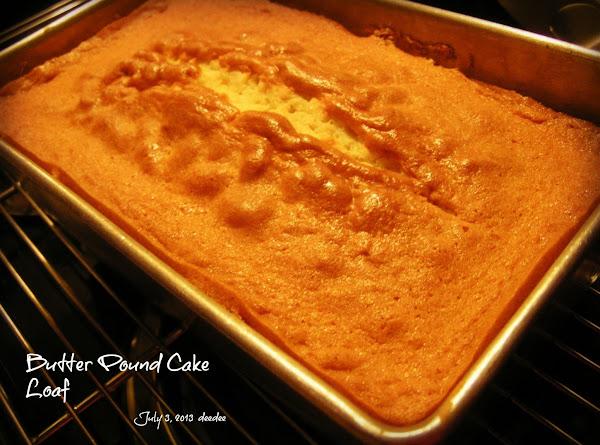 Butter Pound Cake Loaf Recipe