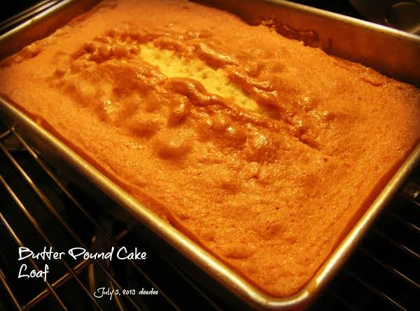 Butter Pound Cake Loaf Recipe