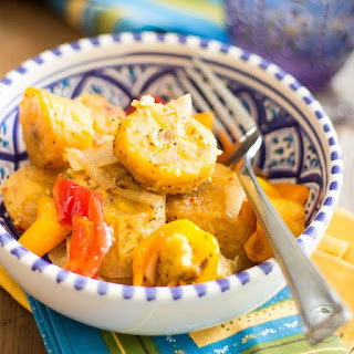 Baked Plantains and Sweet Peppers.