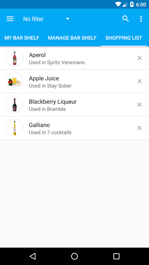 My Cocktail Bar- screenshot