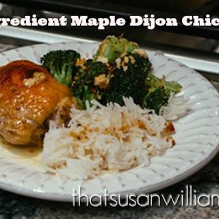 5 Ingredient Mustard Maple Chicken Recipe