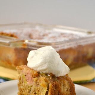 Whole Wheat Rhubarb Upside Down Cake.